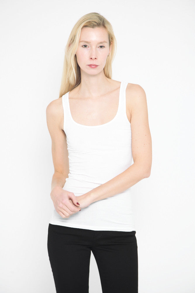 Long Tank Top White