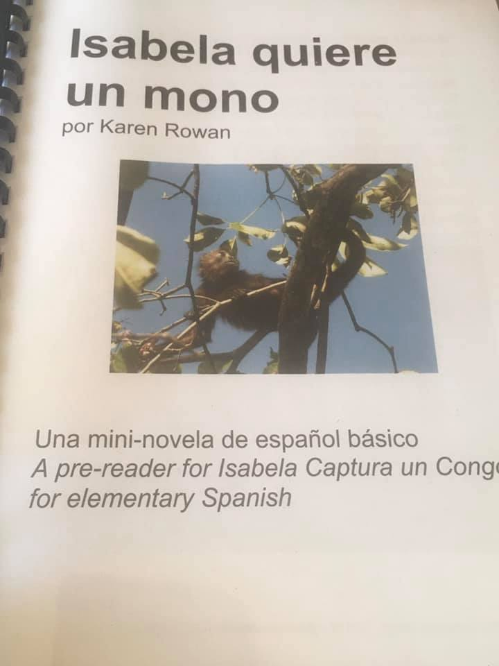 Isabela quiere un mono an easy reader for beginners, download by Karen Rowan