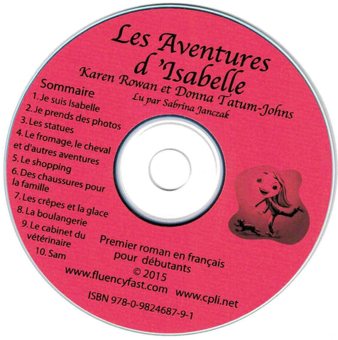 Les Aventures d'Isabelle, audiobook CD by Karen Rowan recorded by Sabrina Janczak