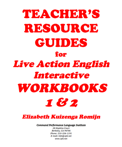 TEACHER'S RESOURCE GUIDES for LAEI WORKBOOKS 1&2 - FREE - SEE
