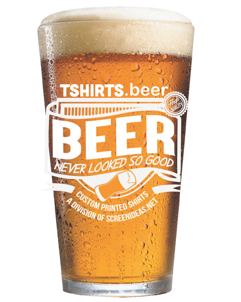 Tshirts.Beer Pint Glass