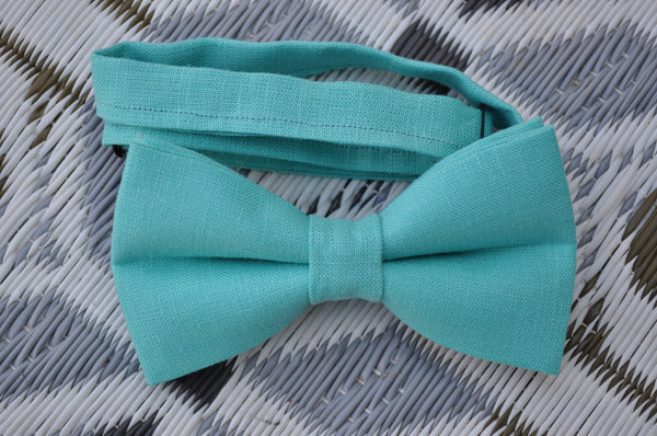 Adult Clear Ocean Green Bow Tie - Dapper Guy Bow Ties - 1