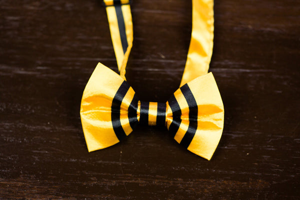 Hufflepuff Satin Bow Tie: Infant-Child