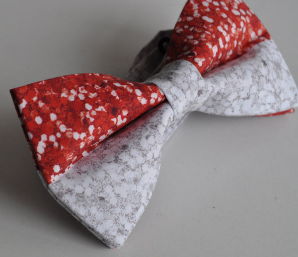 Adult Red & White Sparkles Bow Tie - Dapper Guy Bow Ties - 3