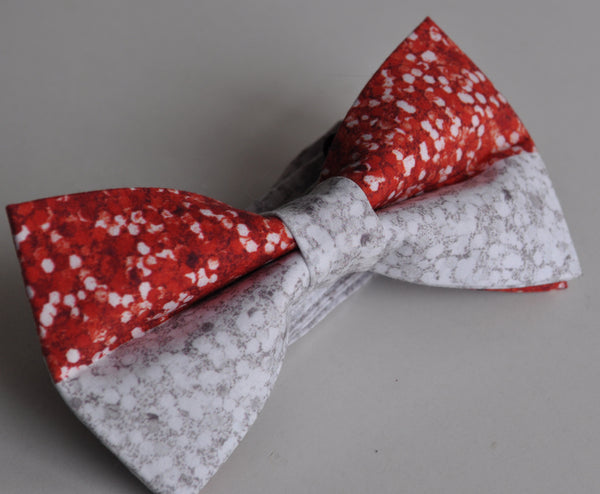 Adult Red & White Sparkles Bow Tie - Dapper Guy Bow Ties - 2