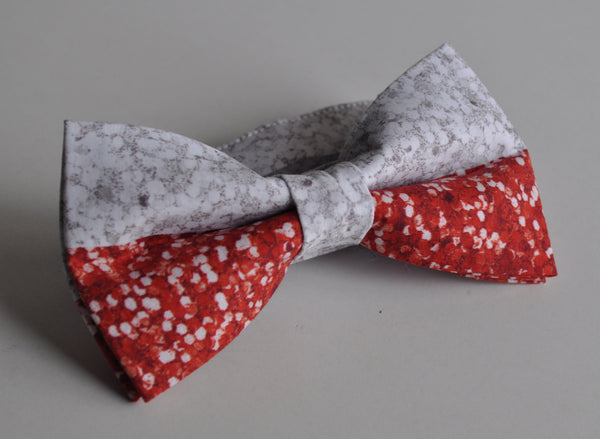 Adult Red & White Sparkles Bow Tie - Dapper Guy Bow Ties - 1