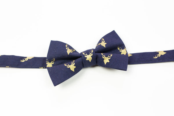 Stag Cotton Bow Tie: Infant-Child