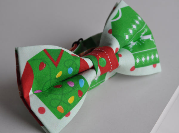 Adult Ugly Sweater Bow Tie - Dapper Guy Bow Ties - 1