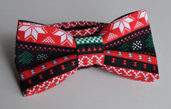 Adult Ugly Christmas Sweater Bow Tie - Dapper Guy Bow Ties - 1
