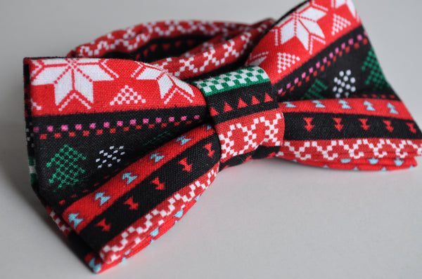 Adult Ugly Christmas Sweater Bow Tie - Dapper Guy Bow Ties - 2