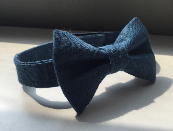 High Seas Blue Linen - Dapper Guy Bow Ties - 1
