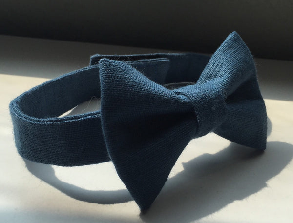 High Seas Blue Linen - Dapper Guy Bow Ties - 3