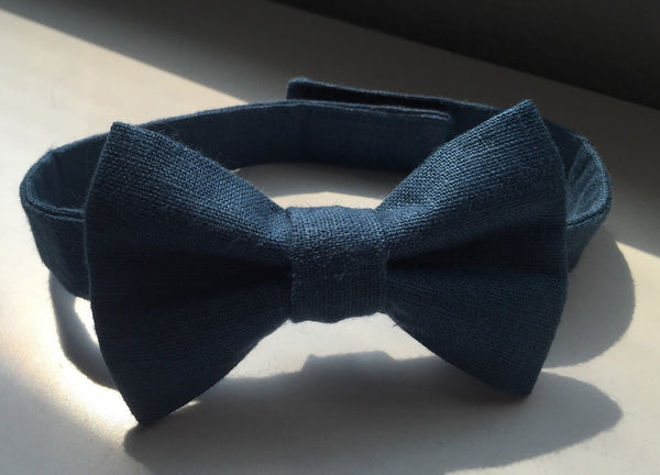 High Seas Blue Linen - Dapper Guy Bow Ties - 2