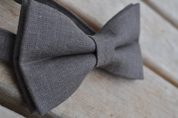 Mocha Pretied Linen Bow Tie - Dapper Guy Bow Ties - 3