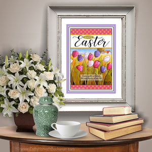 Happy Easter wall art printable