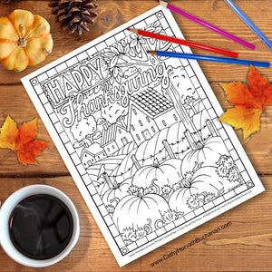 Thanksgiving coloring activity
