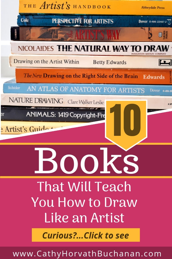 These ten art books that will teach you how to see and draw like an artist. Imagine having the skills to proudly put to paper anything you see. This blog post of artist recommended books are a great way to start