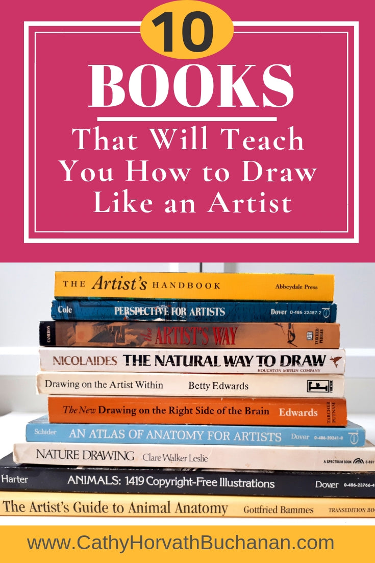 These ten art books that will teach you how to see and draw like an artist. Imagine having the skills to proudly put to paper anything you see. This blog post of artist recommended books are a great way to start.