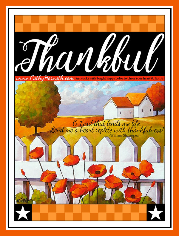Thanksgiving printable art by Cathy Horvath Buchanan