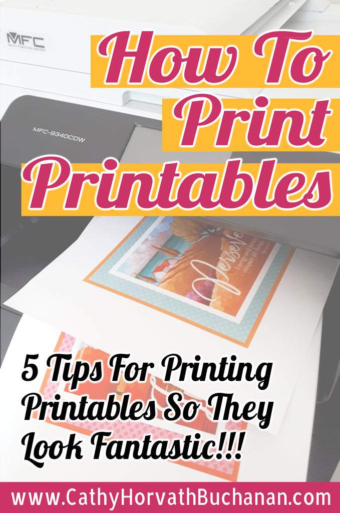 5 tips for printing printables