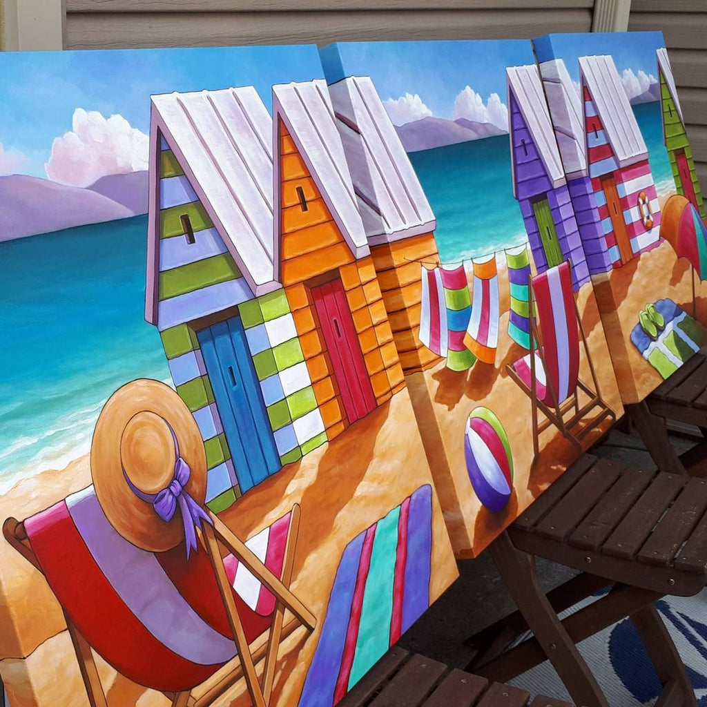 large beach painting