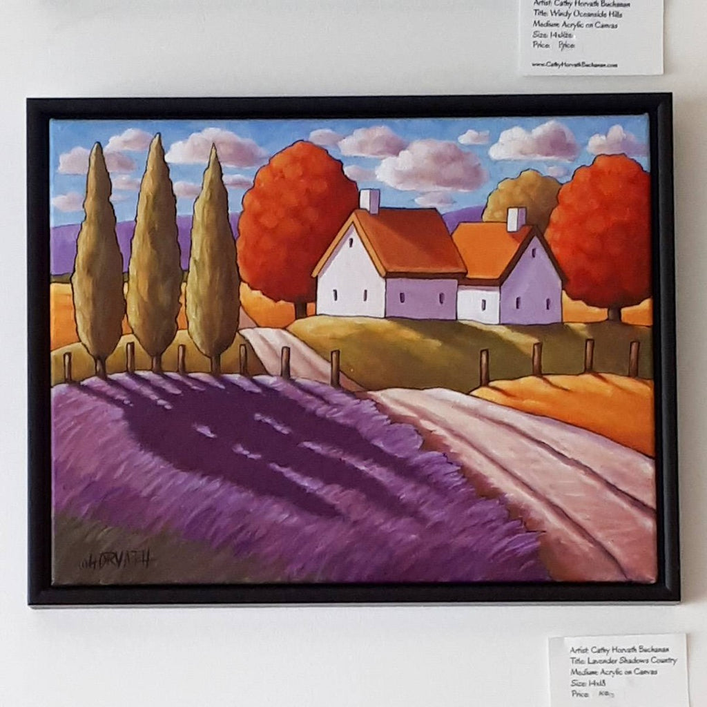 lavender road cottages painting