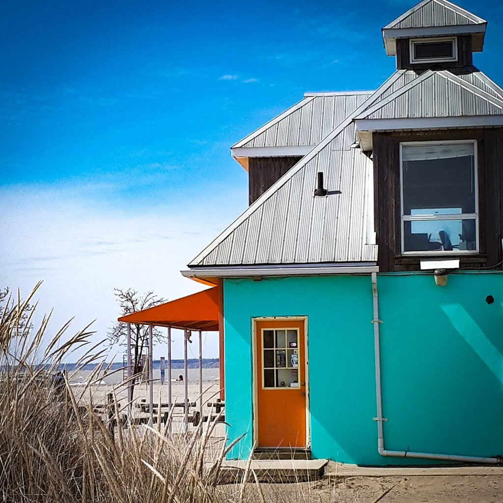 colorful beach building
