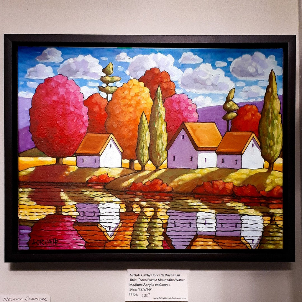 colorful landscape water painting showing