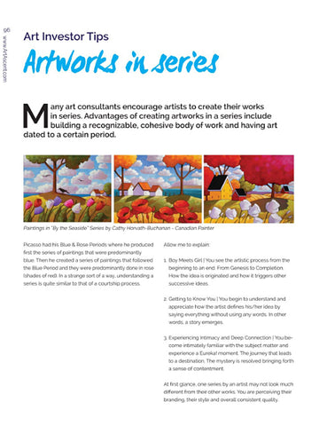 Cathy Horvath Buchanan Art in Art Ascent magazine