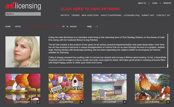 art licensing cathy horvath buchanan