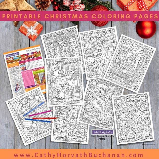 christmas coloring pages by cathy horvath buchanan