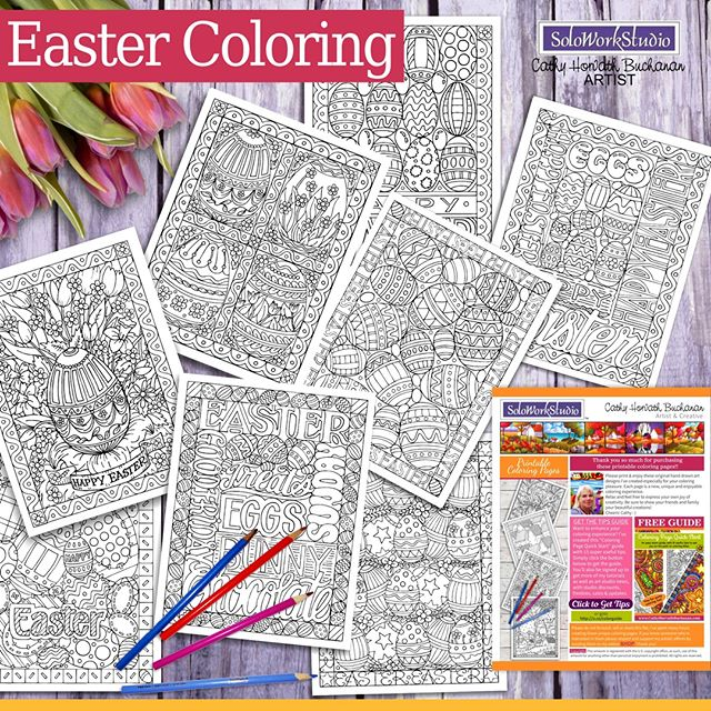 easter coloring pages by cathy horvath buchanan