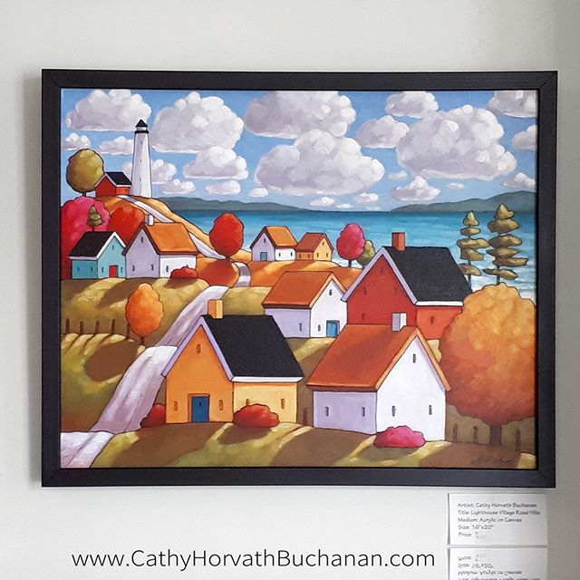 lighthouse village road landscape by cathy horvath buchanan