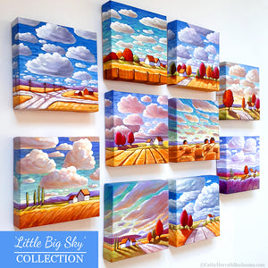 little big sky collection of small original paintings