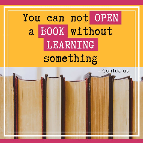 you can not open a book without learning something