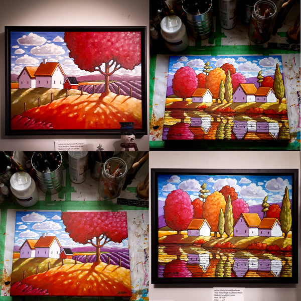 red show paintings