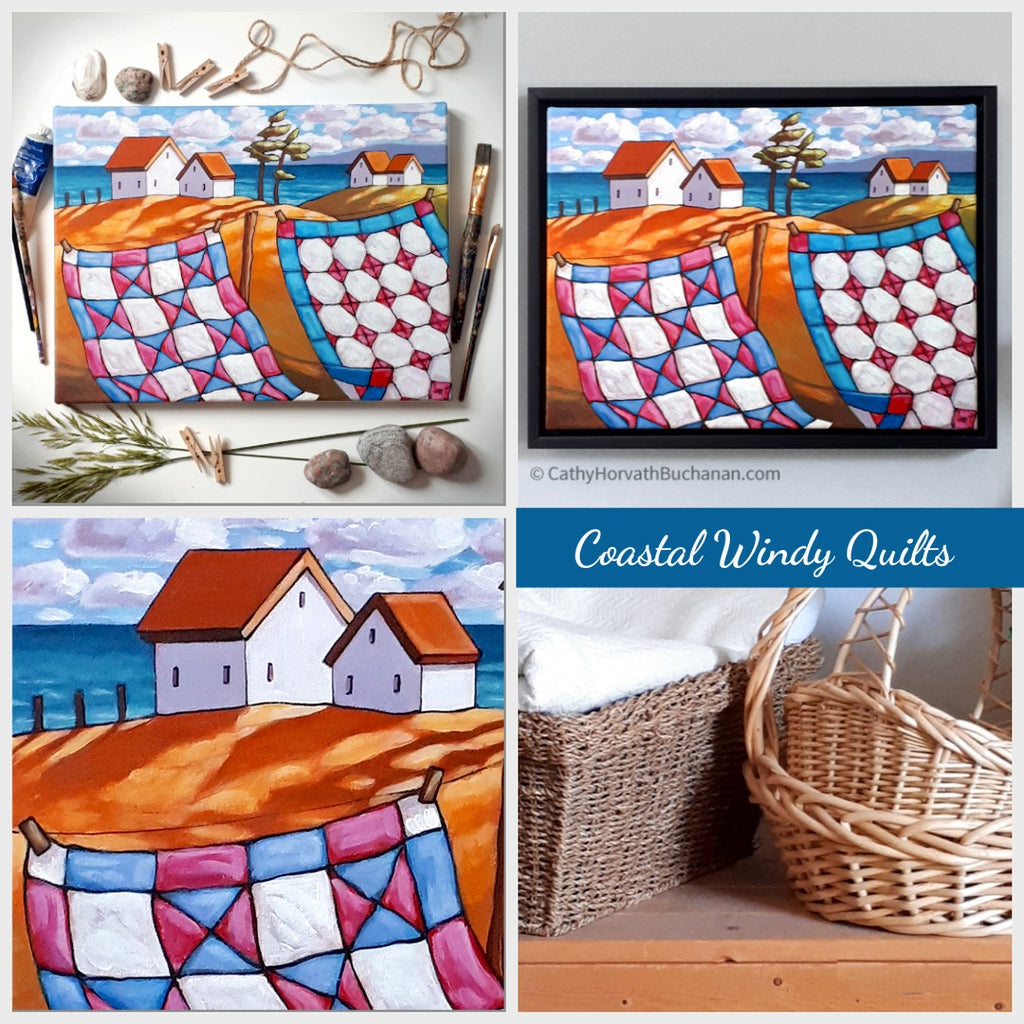 windy quilts painting