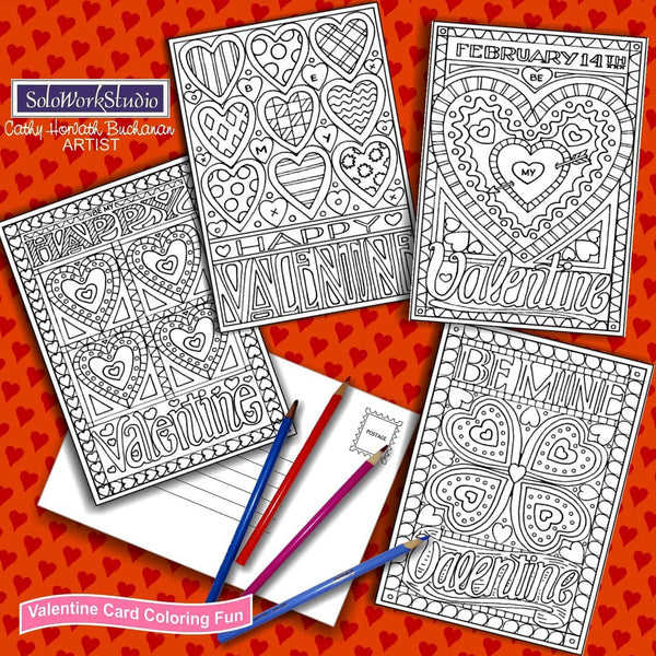 valentine coloring by cathy horvath buchanan