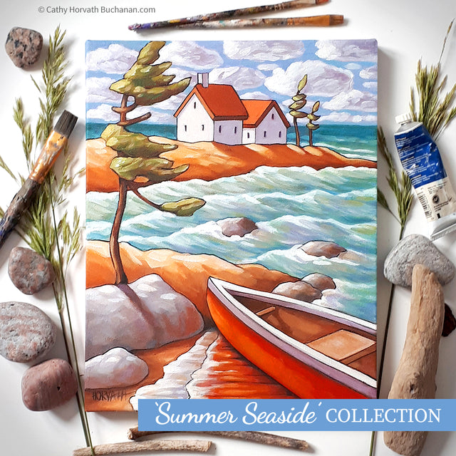summer seaside collection original paintings by artist cathy horvath buchanan