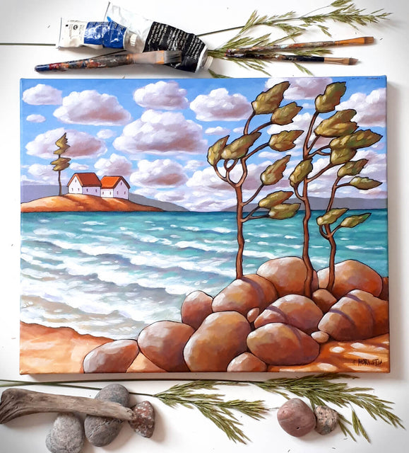 seaside collection original paintings by artist cathy horvath buchanan