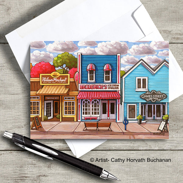 Port Stanley Scenes Art Card, 5x7 Greeting Cards, Set of 6