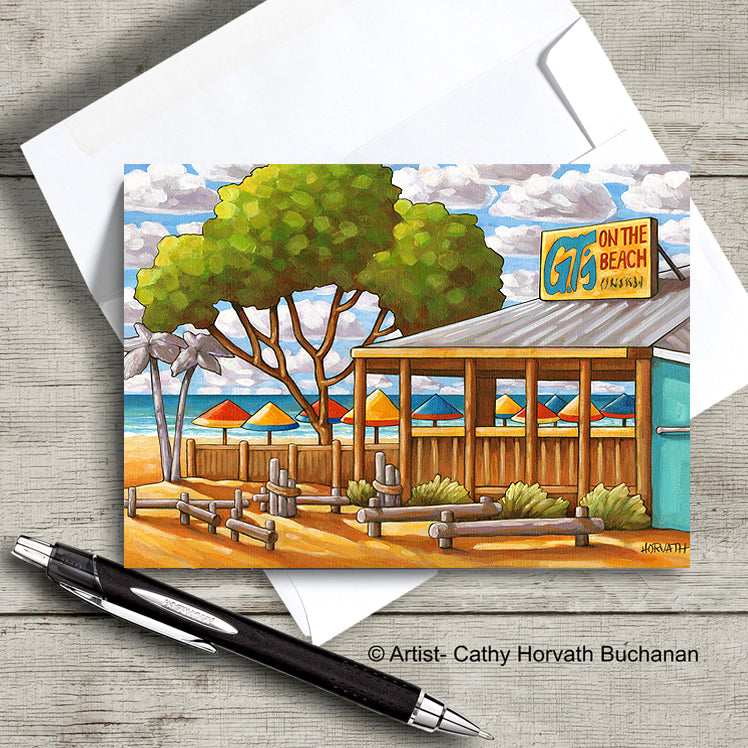 Port Stanley GTS Beach Scene Art Card, 5x7 Greeting Card