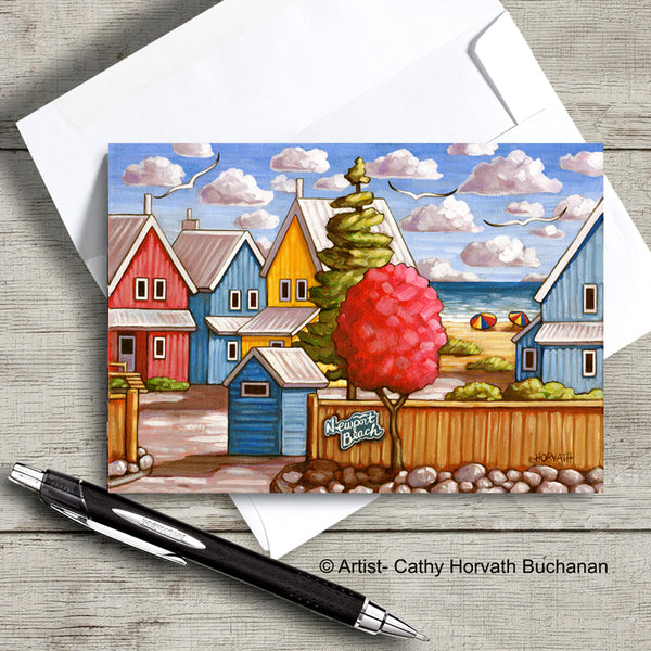 Port Stanley Scenes Art Card, 5x7 Greeting Cards, Set of 4
