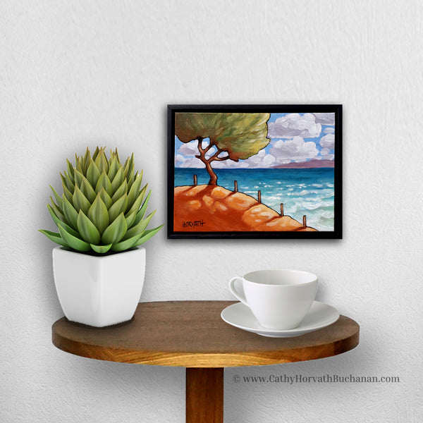 Beach Tree - Original Painting in a setting