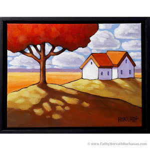 Red Tree Cottage Plains - Original Painting