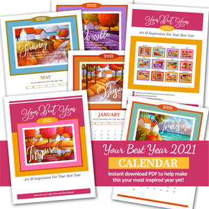 2021 Inspirational Quotes Calendar - Digital Printable
