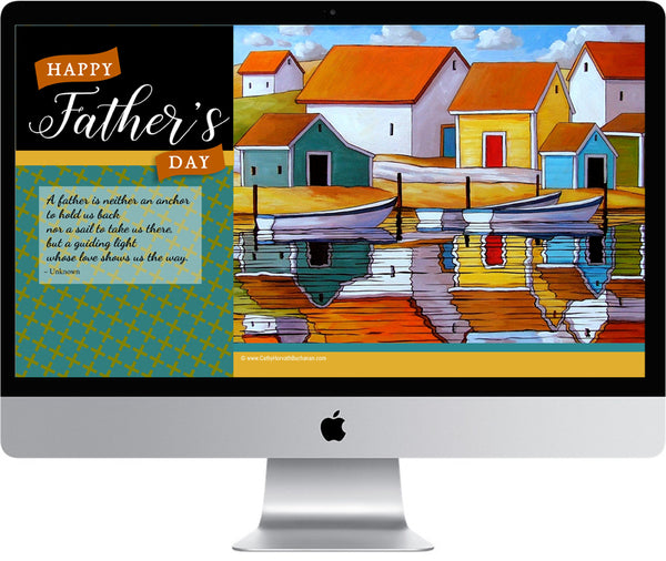 Fathers day wallpaper art for desktop, laptop, phone devices. + printable wall art downloads