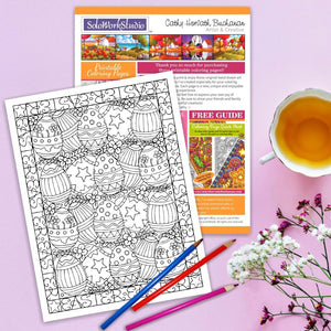 Easter Egg Flowers Coloring page by Artist Cathy Horvath Buchanan