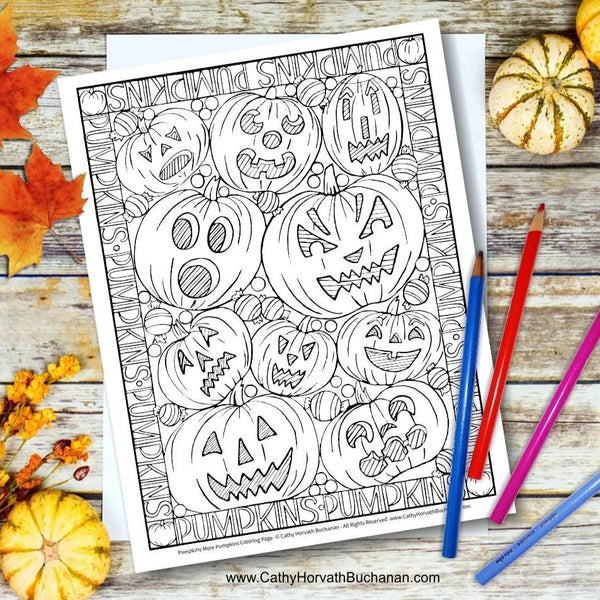 pumpkin jack o lanterns drawing by cathy horvath buchanan