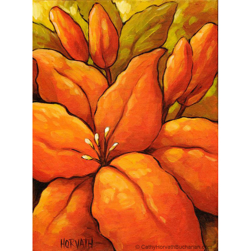 orange blossom painting by cathy horvath buchanan